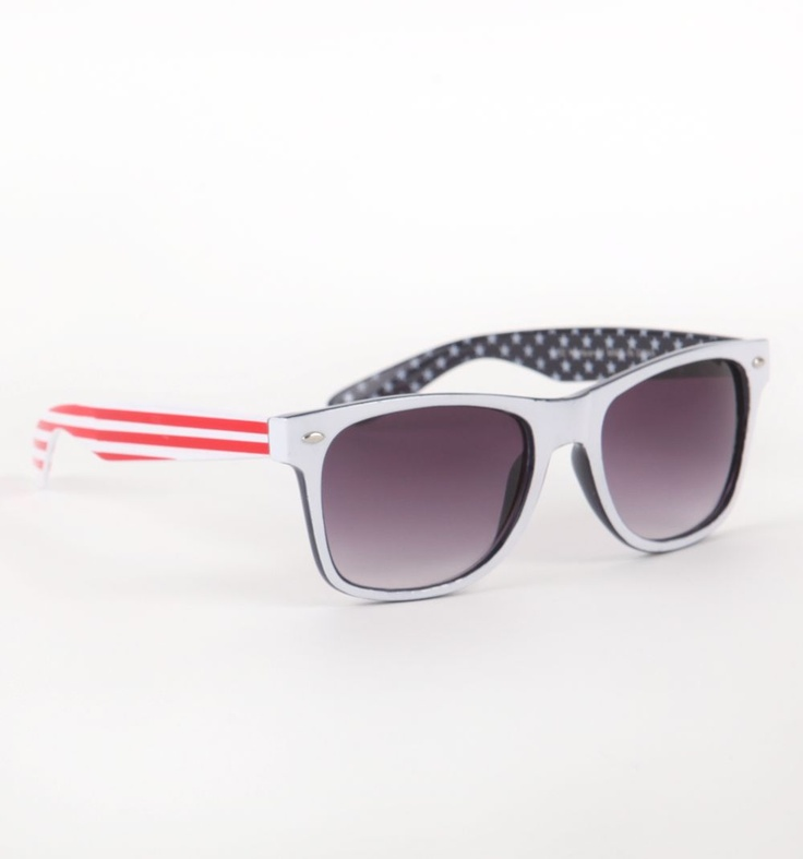 stars and stripes, American sunglasses.