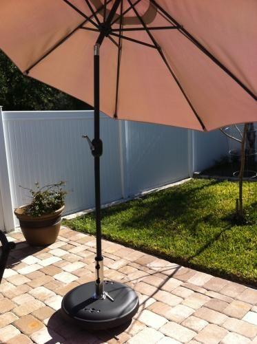 Hampton Bay 110 Lbs. Patio Umbrella Base In Black