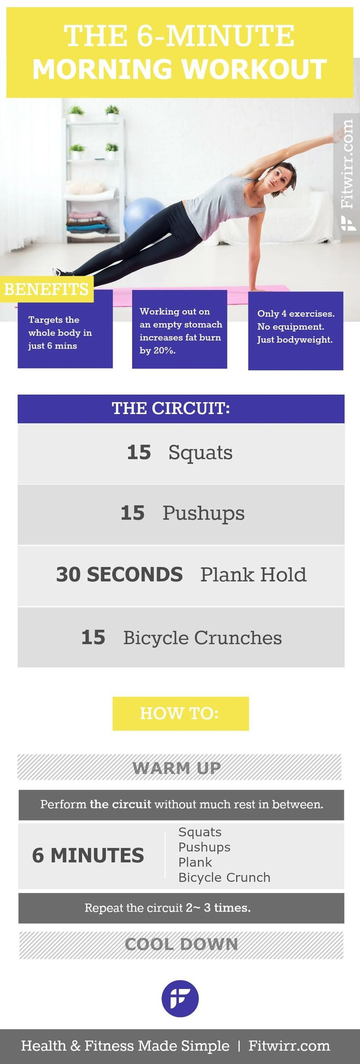 The quickest morning workout routine