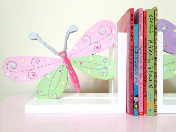 Hey, I found this really awesome Etsy listing at https://www.etsy.com/listing/207340484/butterfly-bookends-childrens-bookends