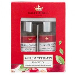 We have a fabulous range of Home Fragrance products, from candles and reed diffusers to scented oils and incense sticks.  All available in seasonal fragrances and in traditional favourites such as French Vanilla.  Our Apple and Cinnamon Scented Oils are perfect to use with our oil burners and will fill your room with a delicious scent.  Each bottle contains 10ml of oil.