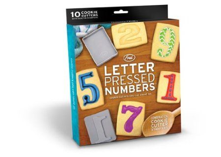 Fred Letterpressed Numbers Cookie Cutters, Grey: Amazon.co.uk: Kitchen & Home