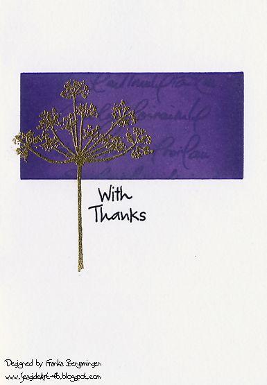 Diese Karte wird mit Hobby-Kunst-Stempeln hergestellt – nur für Sie von Franka Benjaminsen. – Hobby Art Stamps