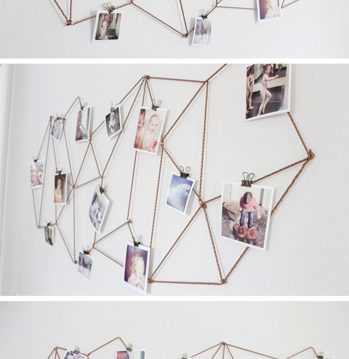 Geometric Instagram Wall Art - neat way to display photos!