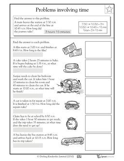 Real-life problems: time - Worksheets & Activities | GreatSchools