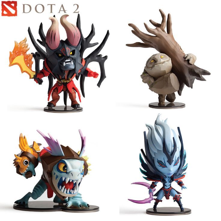 DOTA 2 Moba Game Figure Doom Vengeful Spirit Slark Tiny PVC Model Action Figures Defense of the Ancients Collection Toys Gifts