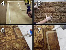 Install Faux Panels® on Concrete with Glue   Instructions
