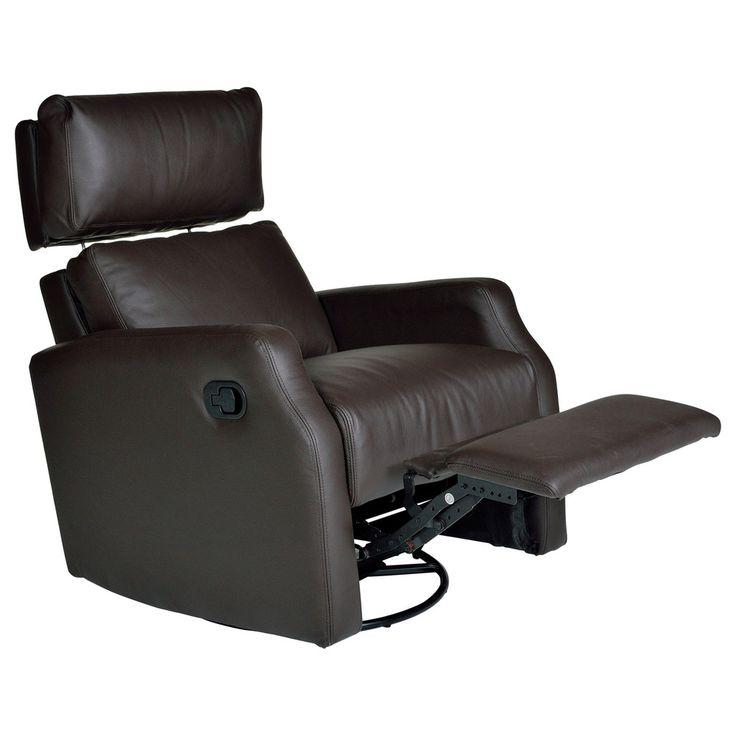 Sidney Leather Swivel Glider Recliner | Overstock.com