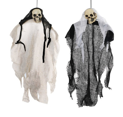 2 x ghost hang ups a great halloween prop for parties and scary decorations - Halloween Decorations Ebay