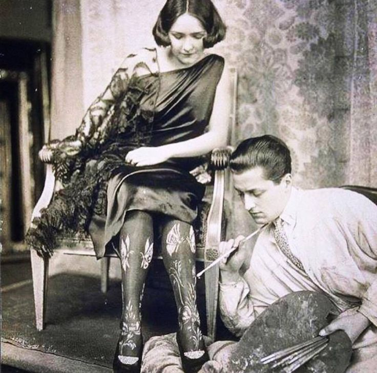 Zelda Fitzgerald and her painting socks                                                                                                                                                                                 More