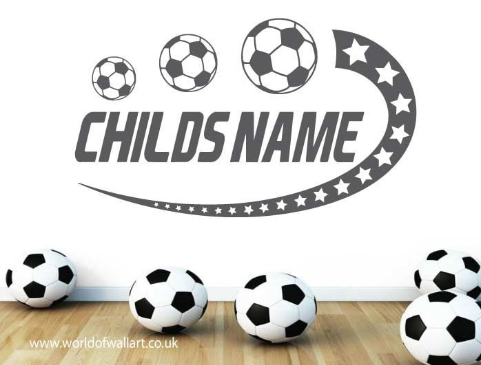 Personalised Boy's or Girl's name on this fantastic bedroom wall art sticker