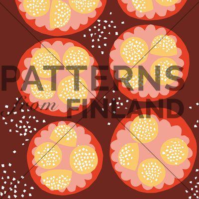 Pullapäivä by Maria Tolvanen  #patternsfromagency #patternsfromfinland #pattern #patterndesign #surfacedesign #mariatolvanen