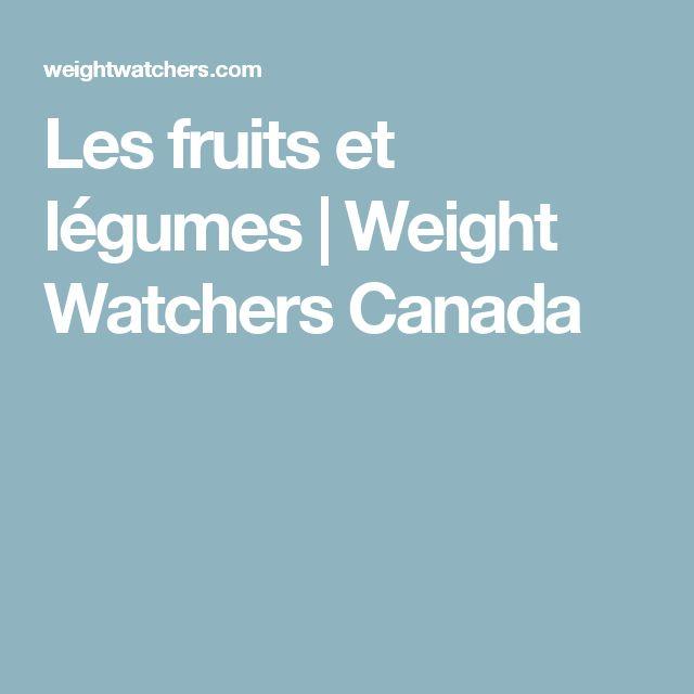 Les fruits et légumes   Weight Watchers Canada