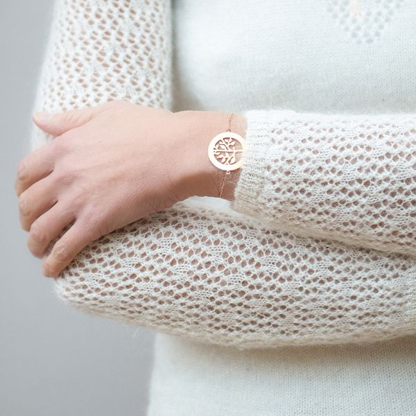 Armband mit personalisiertem Lebensbaum von Merci Maman auf DaWanda.com