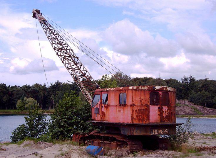 Deze dragline van Hovers Constructie Tilburg (type 750)