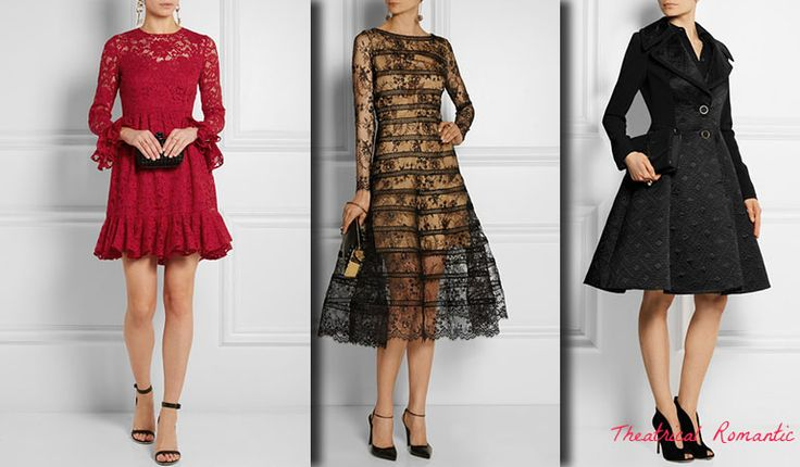 Outfits for Theatrical Romantic (Kibbe). Typ urody Theatrical Romantic – femme fatale.
