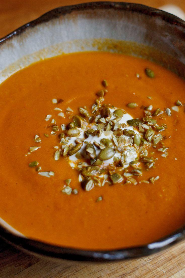 NYT Cooking: Chances are the contents of that can of pumpkin purée you may be using for pie, soup, biscuits, custard, ice cream or bread came from Illinois. It's the state that produces the most pumpkin for canning. This vibrant soup, from the chef Rick Bayless, an owner of Frontera Grill and Topolobampo in Chicago, is inspired by Mexico, where pumpkin is as typical an ingredient%2...