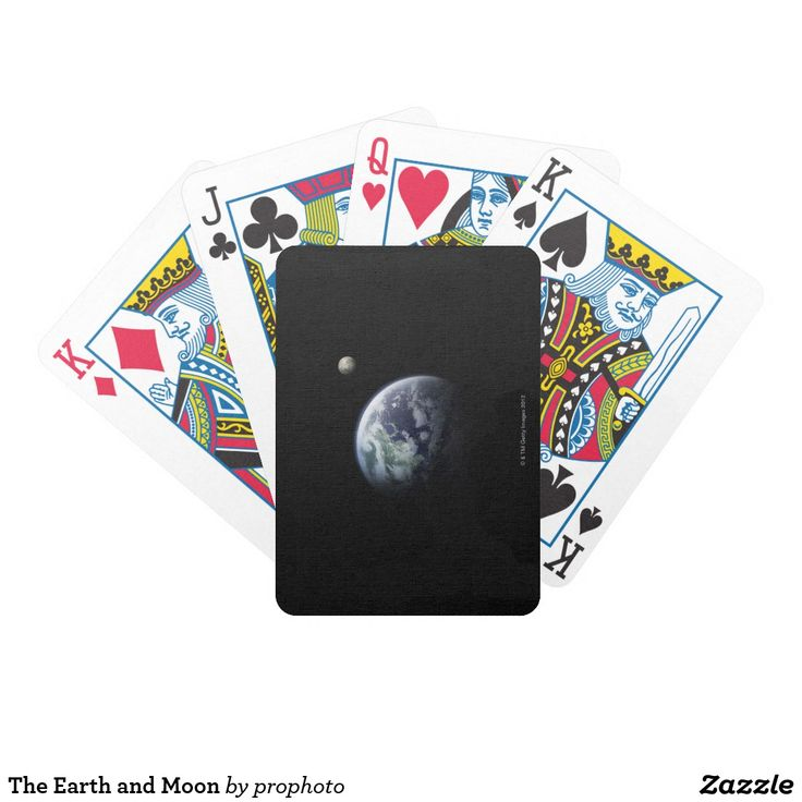 The Earth and Moon Bicycle Playing Cards
