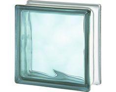 Glasbaustein Wolke türkis 19x19x8cm