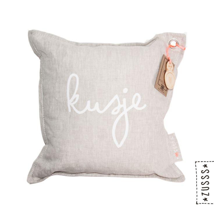 Zusssie l Kussen kusje l http://www.zusss.nl/product/kussen-zusssie-kusje/