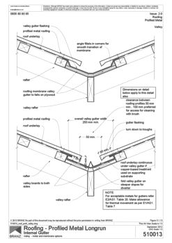 Branz Details 5 01 13 Valley Metal And Membrane Options