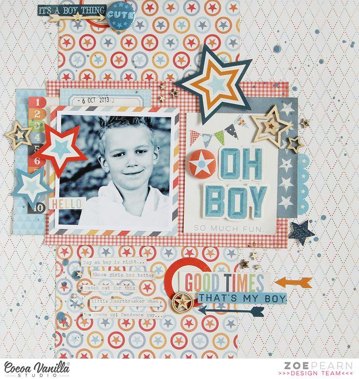 Oh Boy - Zoe Pearn - Cocoa Vanilla Studio - Scrapbook.com