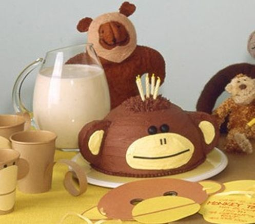 Monkey Cake Baby Shower Model