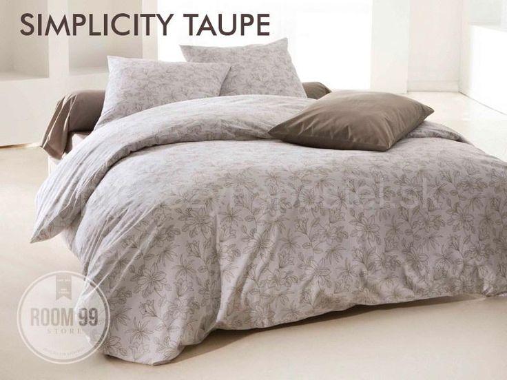 NOVÁ KOLEKCIA 2016   Návliečky na posteľ krémovej farby s hnedými kvetmi   Prehozy na posteľ
