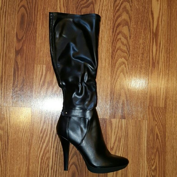 9 & Co. Black High Boots To the knee, high heel boots. 9 & Co. Shoes Heeled Boots