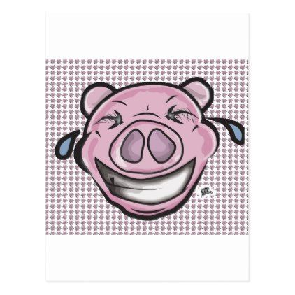 Laughing Pig Funny Postcard - postcard post card postcards unique diy cyo customize personalize
