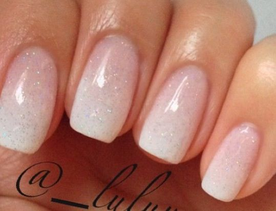 Basic Nails Pink And White Wedding Pretty Nails In 2019 Bride Nails Nails Wedding Nails