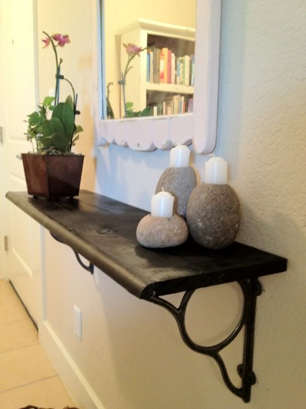 Cozy Bliss Diy Floating Shelf In Small Foyer This