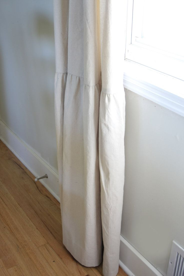 Farmhouse Curtains Shabby Chic With Long Ruffle by ShadesUpandCo