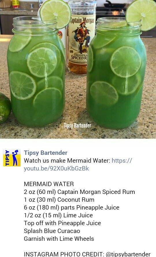 Mermaid Water Alcoholic Beverage