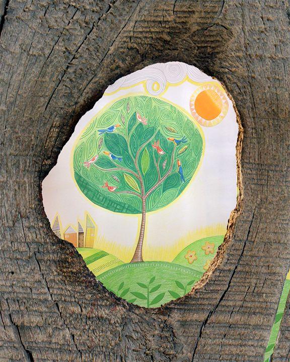 Debi Hudson. I love the texture in the tree