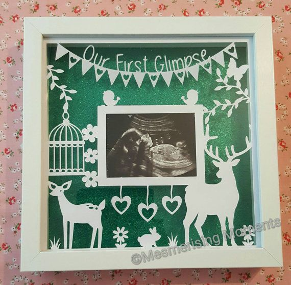 Doe and stag first glimpse framed baby scan papercut https://www.etsy.com/uk/listing/278748660/our-first-glimpse-framed-papercut-for