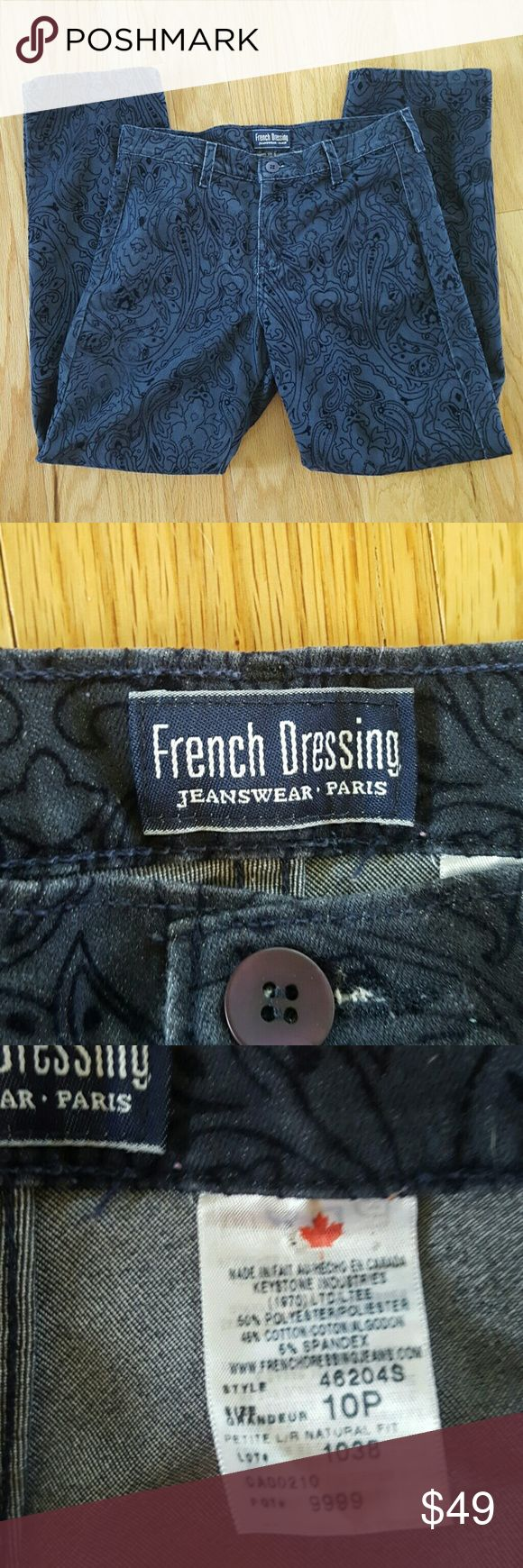 French Dressing Jeans Authentic French Dressing Jeans.  Velvety designs on the outside of the jeans French Dressing Jeans