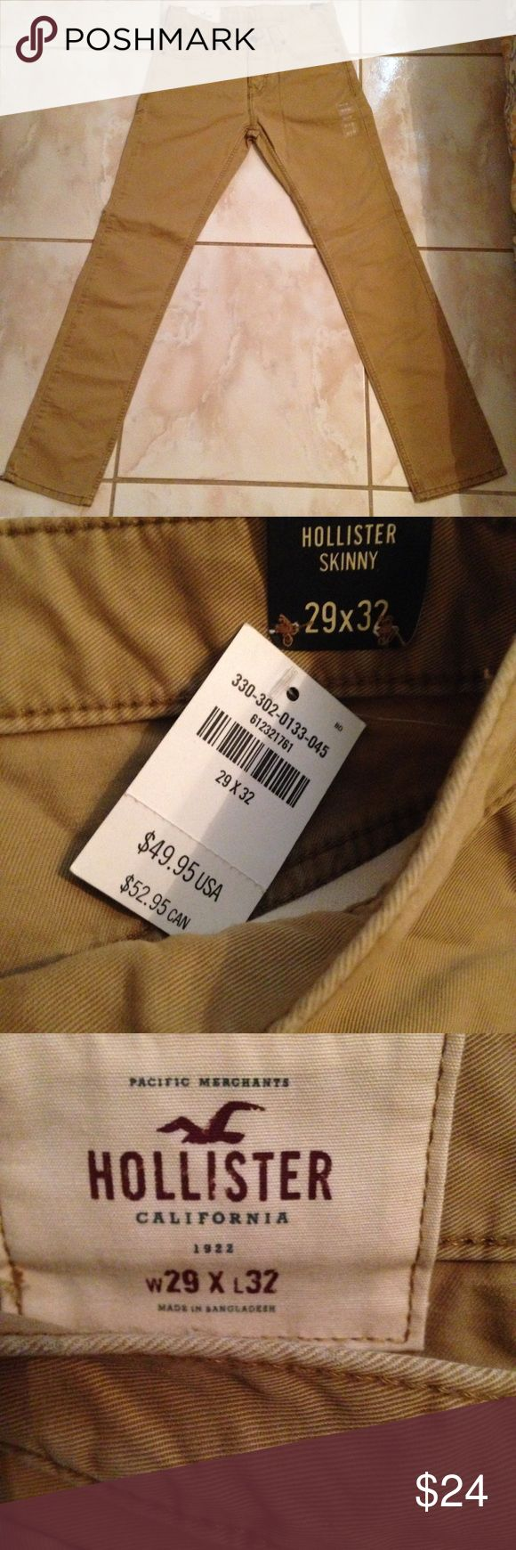 Hollister Khaki skinny jean 29 x 32 (New) This jean is new it has never been worn and still has tags. Hollister Jeans Skinny