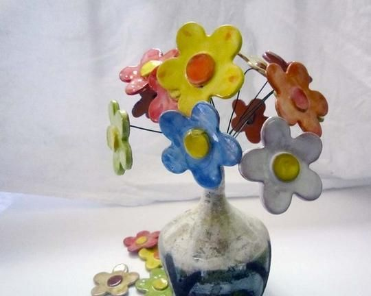 Custom Handmade Ceramic Clay Flowers by Clay Lick Creek Pottery | Hatch.co