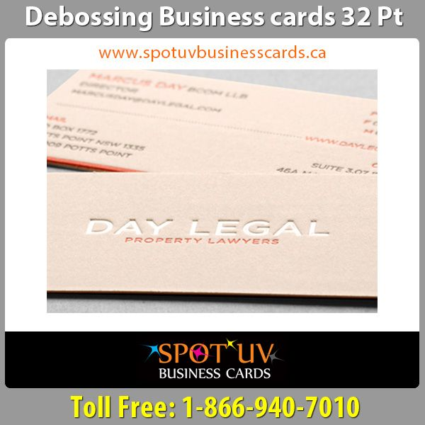 33 best spot uv business cards templates images on pinterest brand quality debossing business cards in canada reheart Images