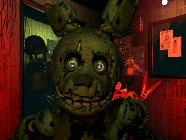 Springtrap-Me-an old broken anamatronic. I roam the halls for the blood of the security guards. I'm their biggest threat.