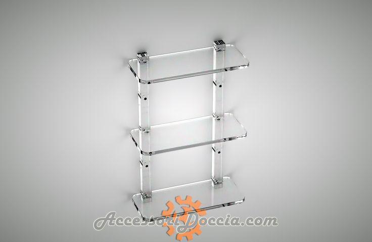 Mensola doccia rettangolare plexiglass Mensole doccia