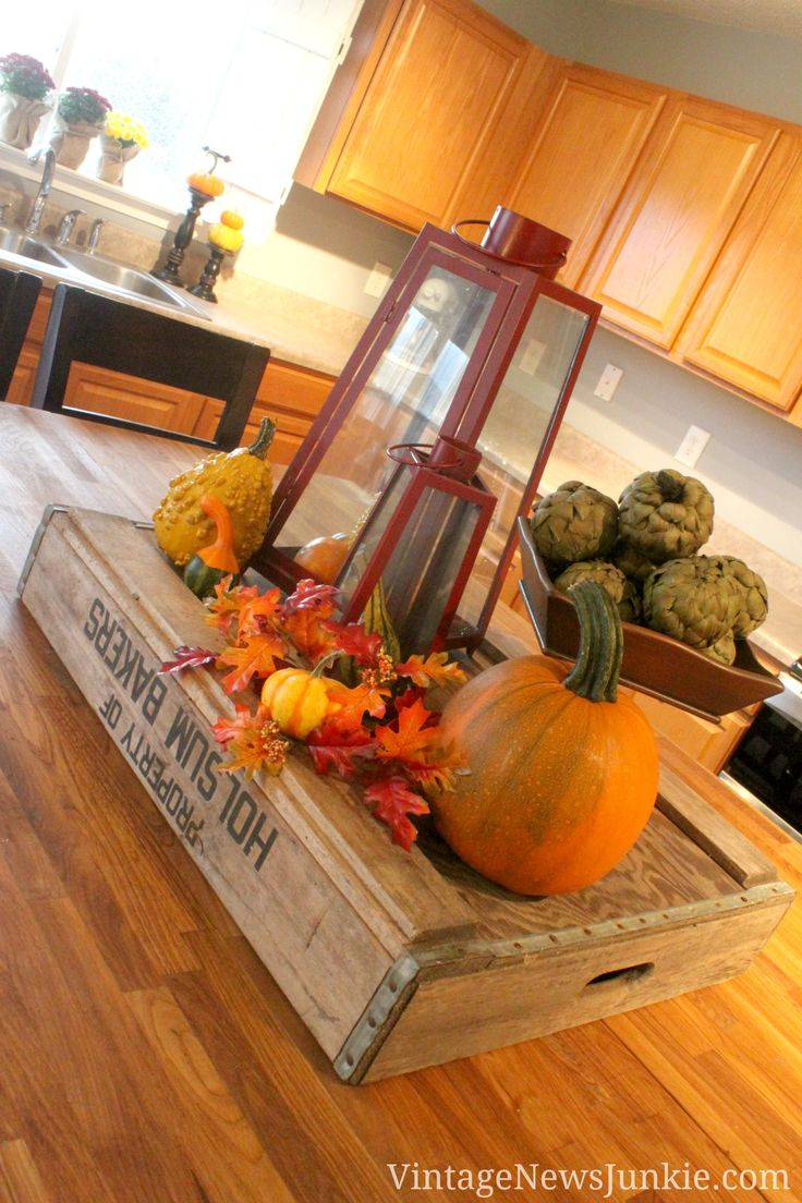 Fall Decor: Lanterns, Pumpkins, Artichokes