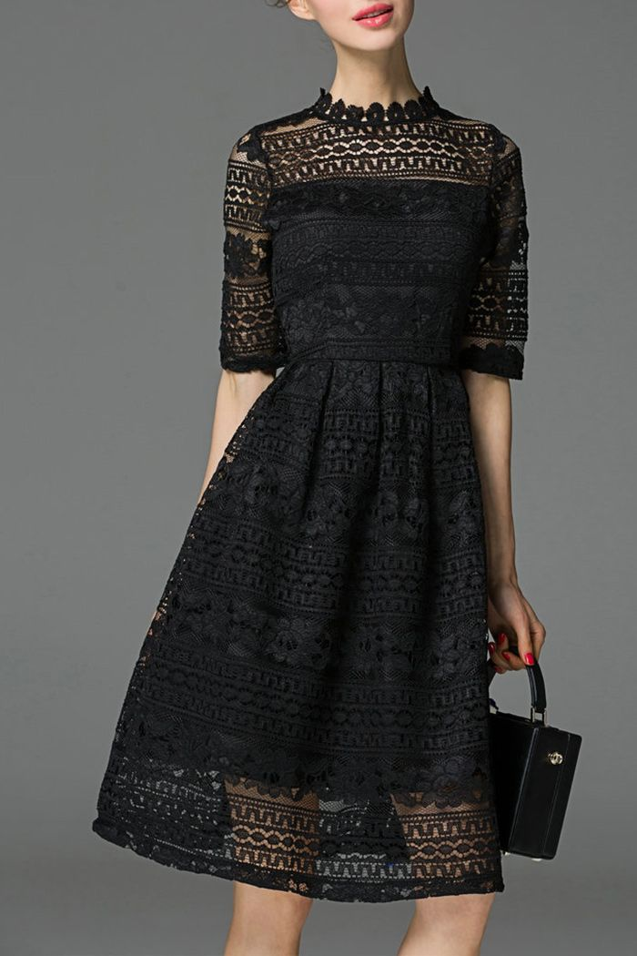 Such a pretty Knee Length Lace Dress!