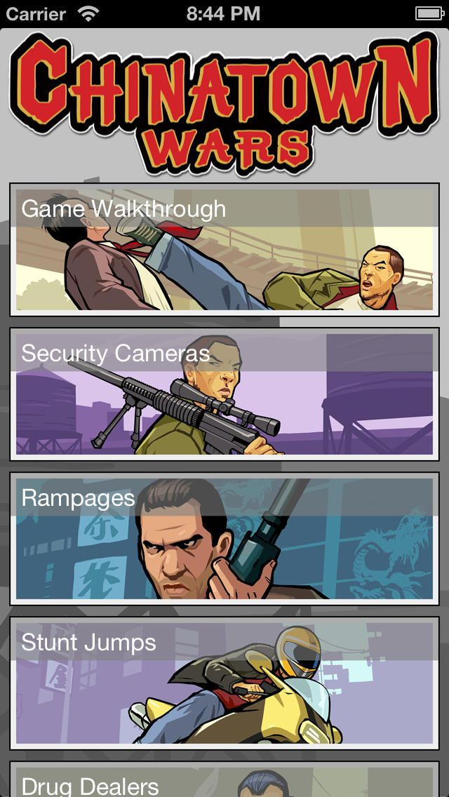 Maps for Grand Theft Auto: Chinatown Wars: You can download here: https://itunes.apple.com/hu/app/id722855184?mt=8&affId=1860684 The best maps app for Grand Theft Auto: Chinatown Wars.