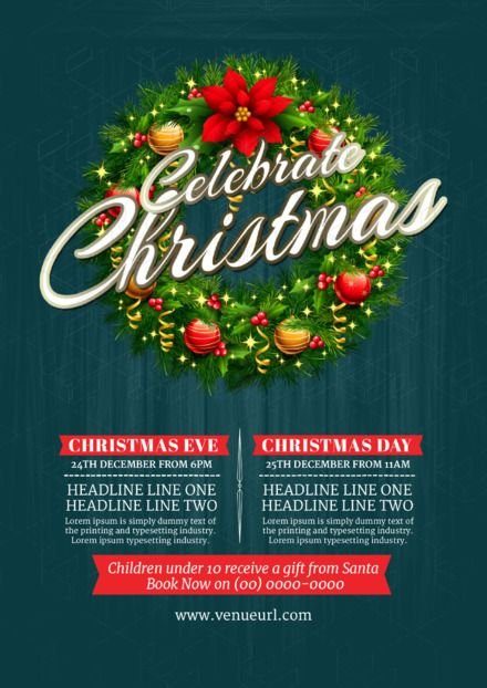 Christmas promotion DIY Template by Easil featuring gorgeous wreath