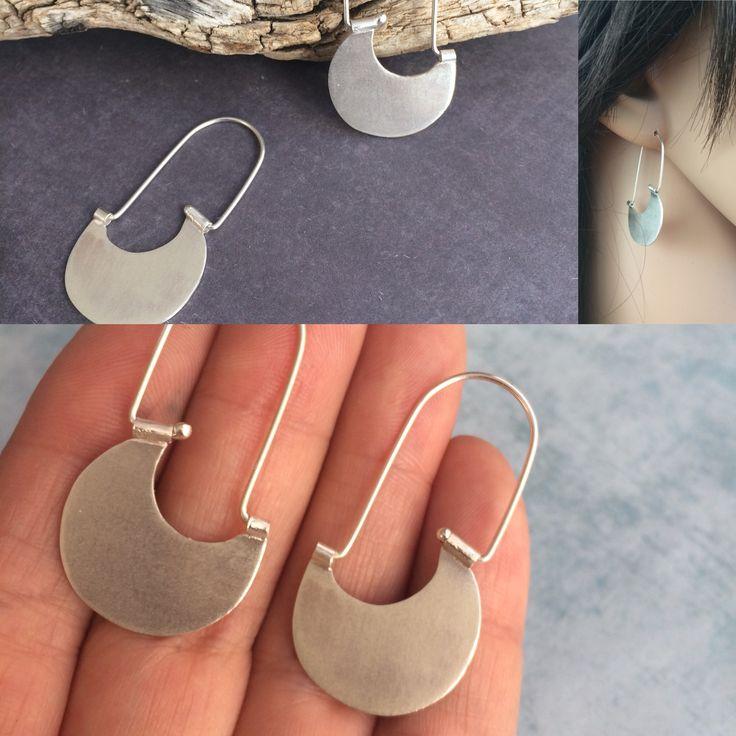 Sterling silver hook earrings. Tribal inspiration. Handmade by Carla Amaro