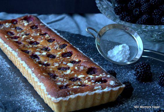 Brombærtærte med marcipan
