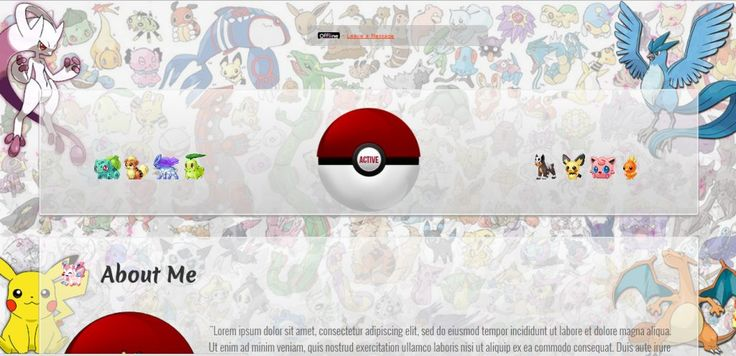 Download Pokemon Style custom MyFreeCams template The Pokemon fever is limitless and to satisfy you, our loyal collaborator Studio CSSMFC Productions presents the Pokemon Style MyFreeCams template design.