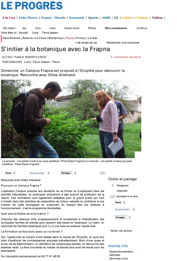 Article Campus FRAPNA